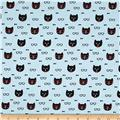 Michael Miller Cool Cats Dapper Cat Aqua