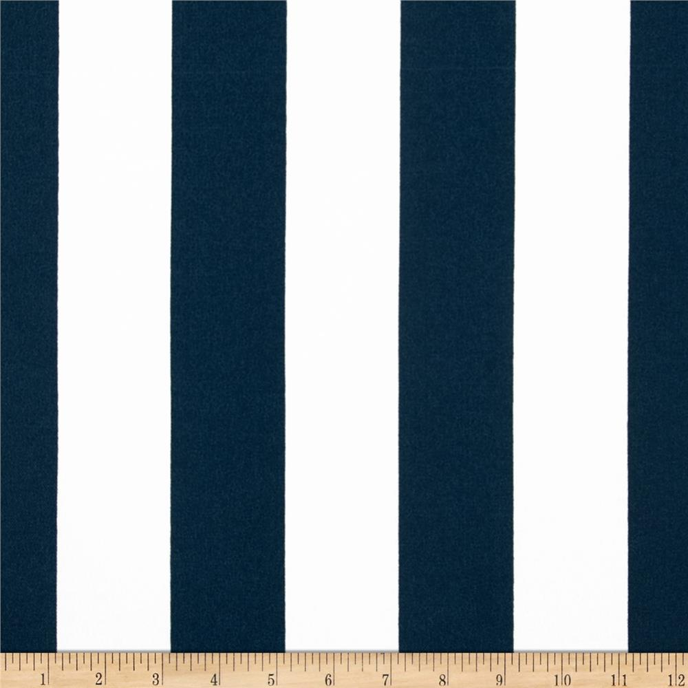 Premier Prints Indoor/Outdoor Stripe Oxford Blue/White