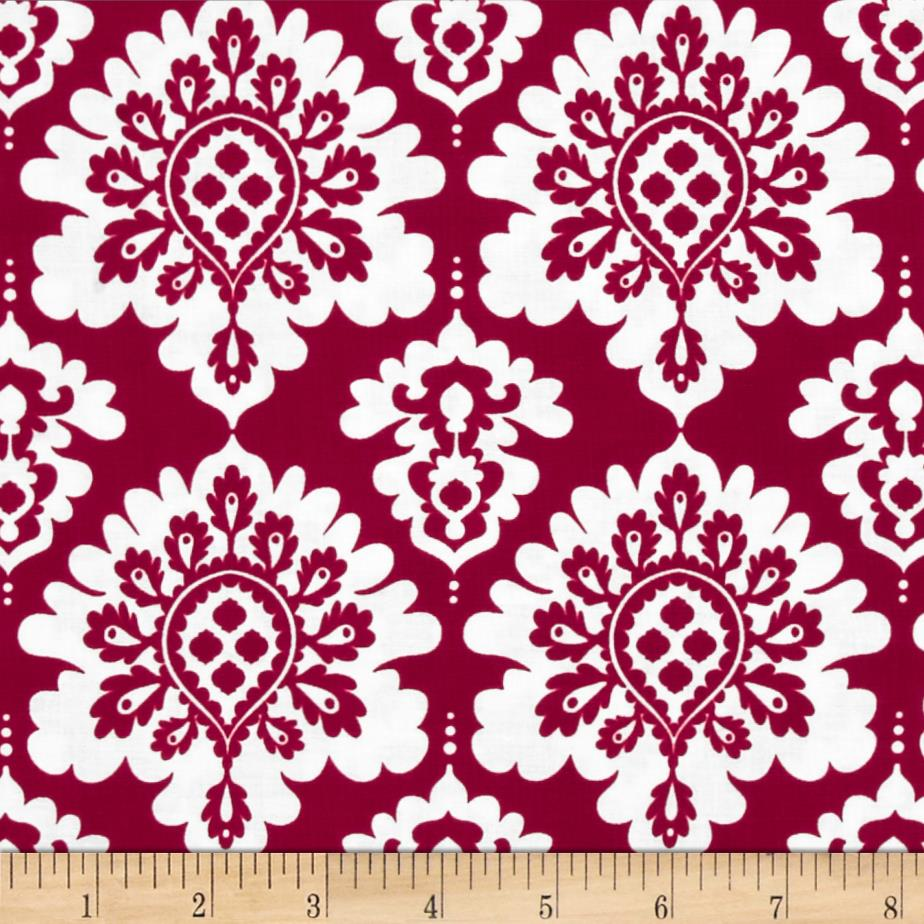 Riley Blake Lost and Found Love Damask Red