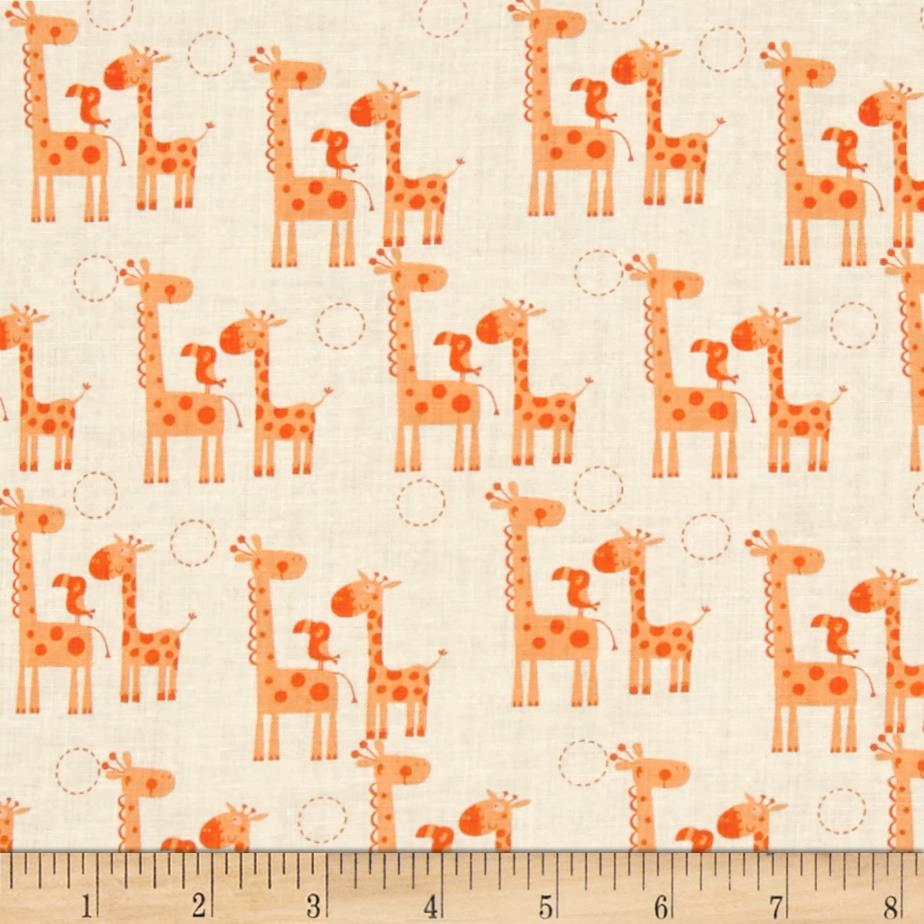 Riley Blake Giraffe Crossing 2 Giraffes Orange