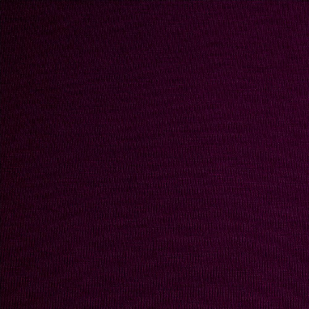 Telio Rayon Jersey Knit Plum Fabric By The Yard