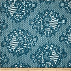 Crochet Lace Turquoise Fabric