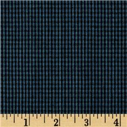 Homespun Yarn Dyed Small Plaid Shirting Blue/Black