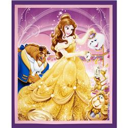 Disney Beauty & The Beast 36 In. Panel Purple