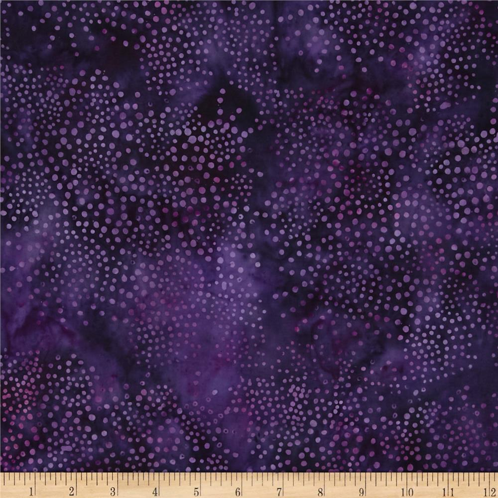 Island Batik Delphinium Splash Dark Purple
