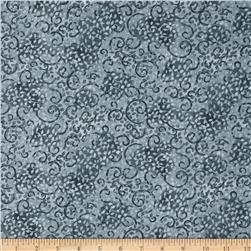 "Leafy Scroll 108"" Wide Back Grey"