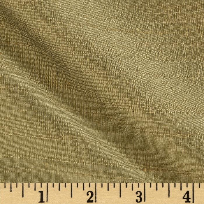 Dupioni Silk Fabric Bronze