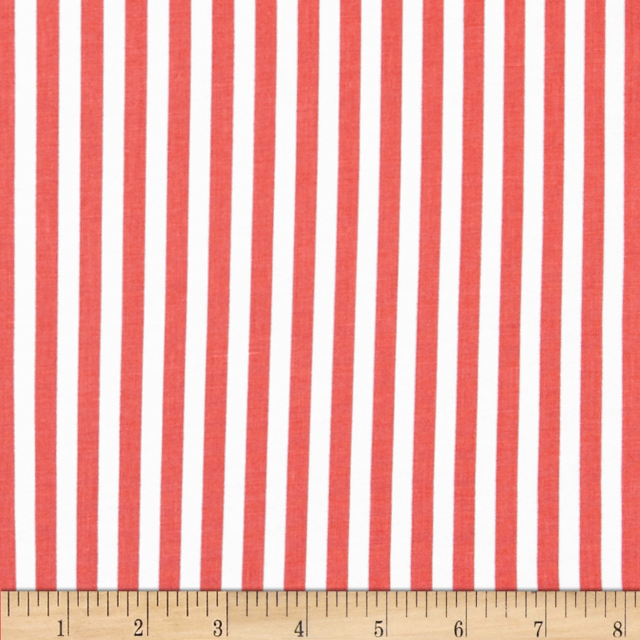 Michael Miller The Littles Clown Stripe Coral Fabric