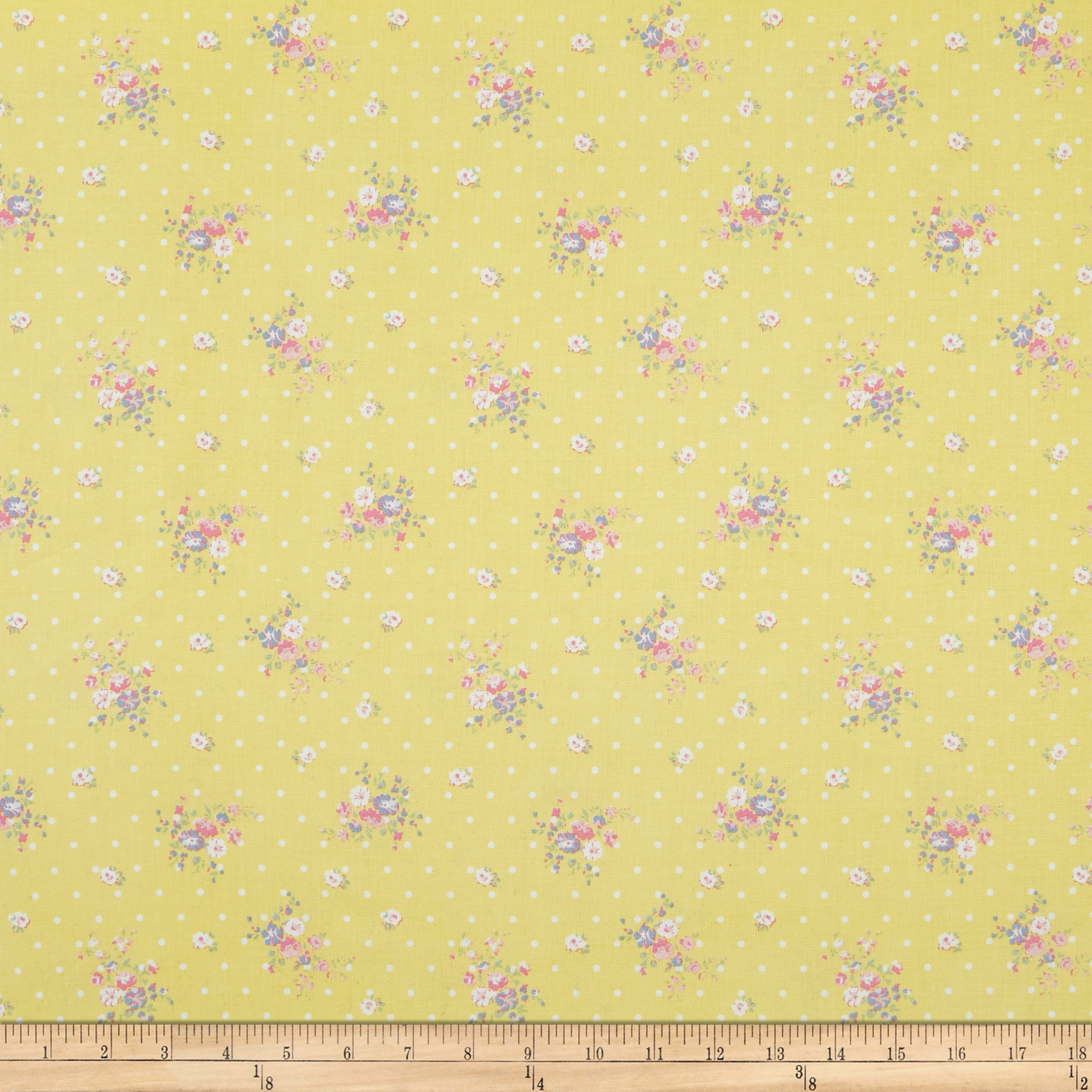 Whistler Studios Roslyn Dotted Floral Yellow Fabric