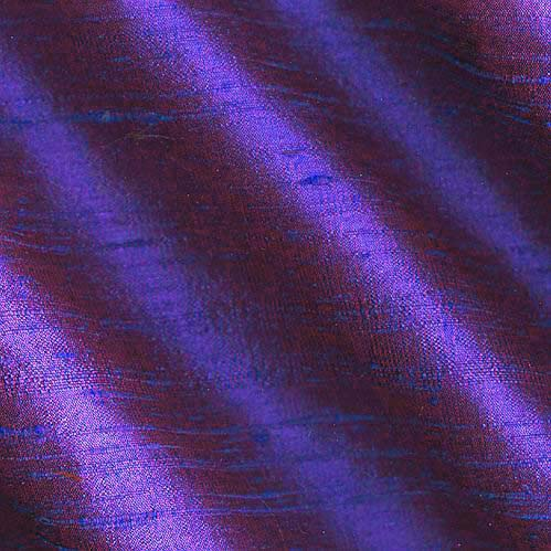 Image of Dupioni Silk Fabric Iridescent Plum