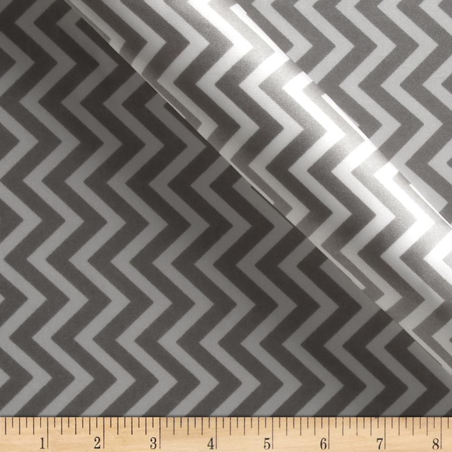 Charmeuse Satin Chevron Silver/White