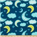 Flannel Stars & Moon Dark Teal