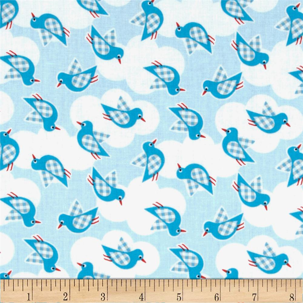 Whale 39 s adventure discount designer fabric for Whale fabric
