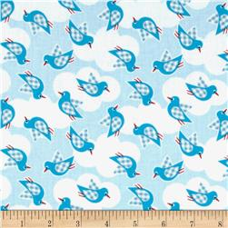 Whale's Adventures Splashing Birds Blue