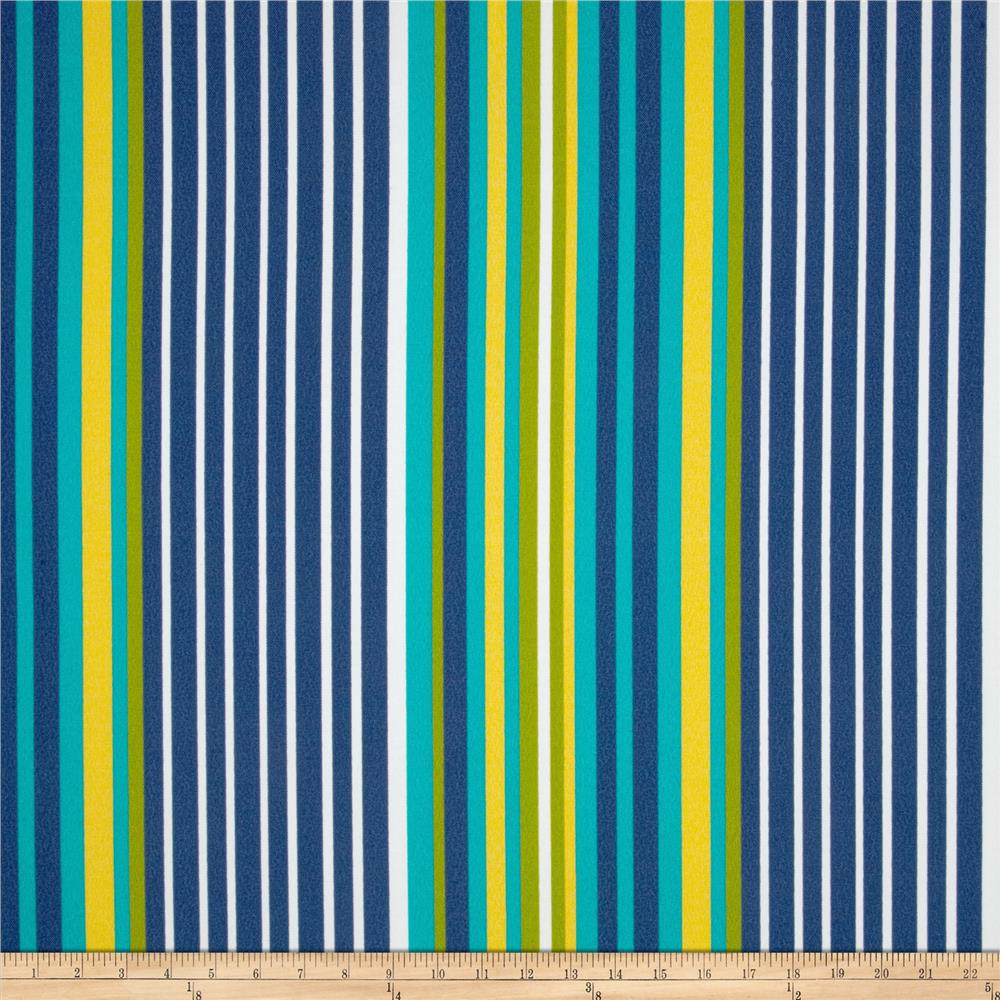 Tempo Indoor/Outdoor Sailboat Stripe Navy/Aqua