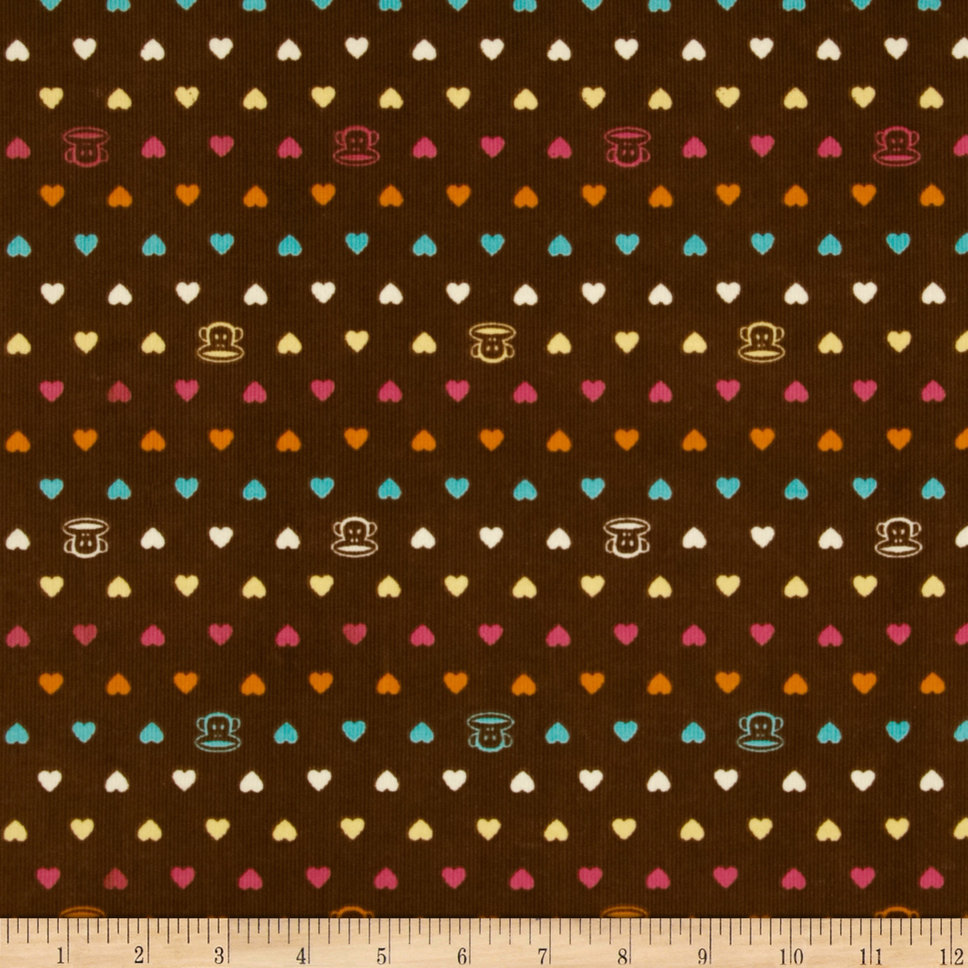 21 Wale Corduroy Paul Frank Brown Fabric