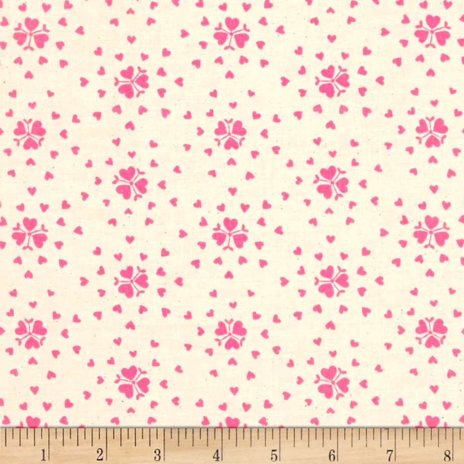 Image of Cotton + Steel Yours Truly Heartburst Natural Fabric