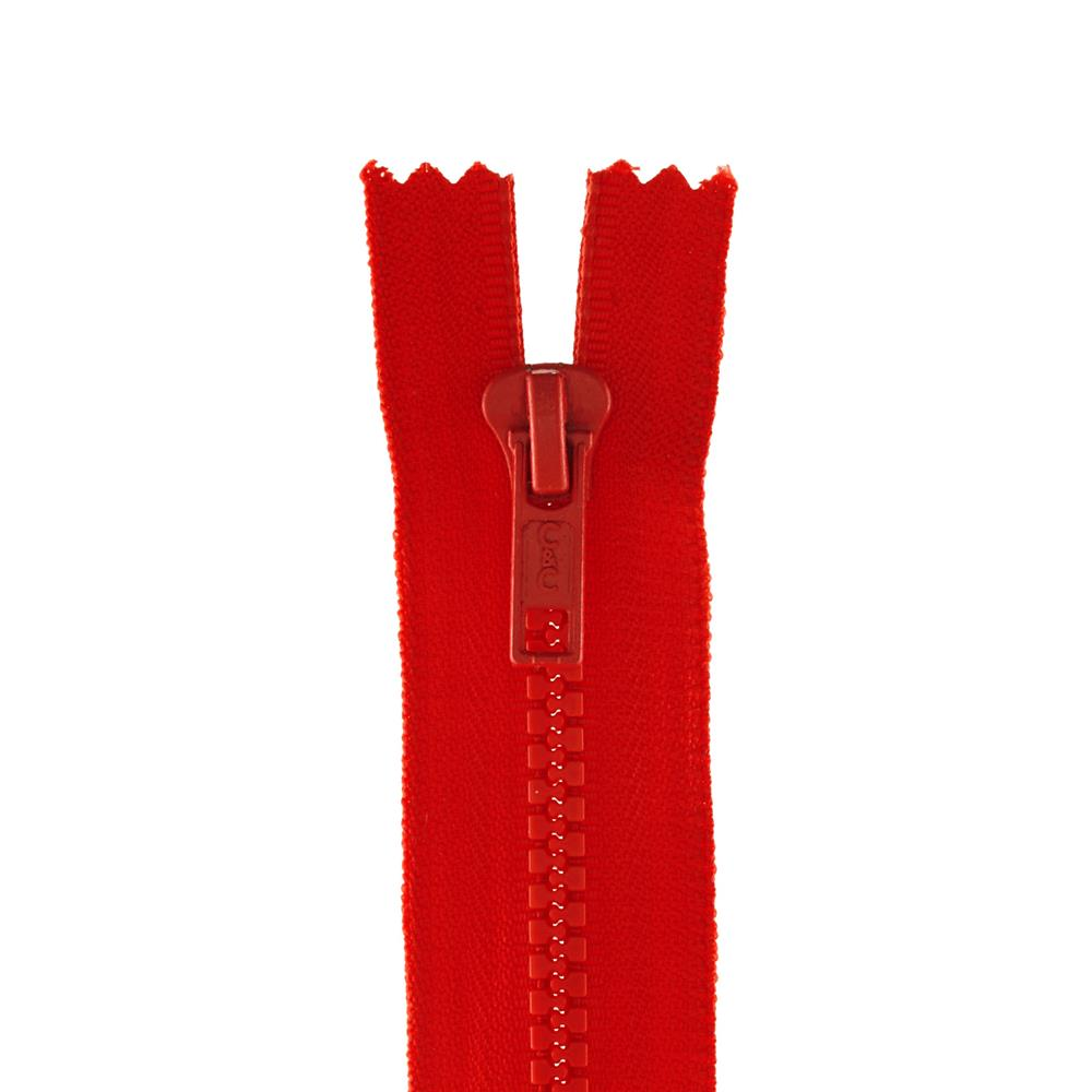 "Coats & Clark Closed Bottom Molded Zipper 22"" Atom Red"