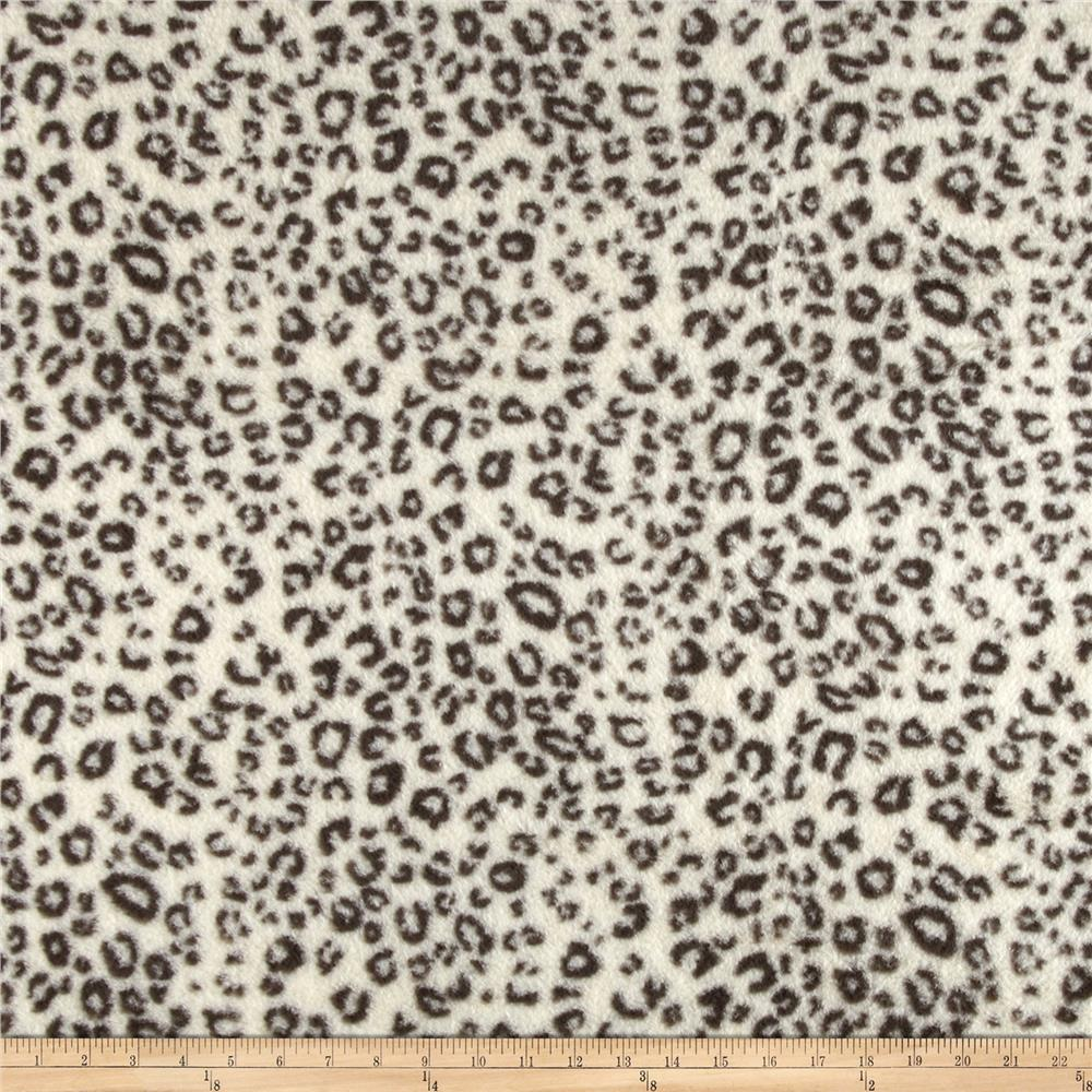Telio Luxury Faux Fur Leopard Fur Ivory/Grey