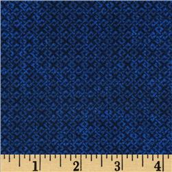 108'' Wide Essentials Quilt Backing Criss Cross Navy