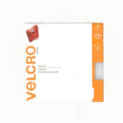 "Velcro Sew On Tape Roll  1-1/2"" x 5 Yds. White"