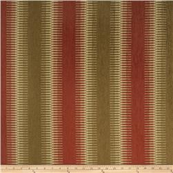 Fabricut Lodge Stripe Chenille Red Clay