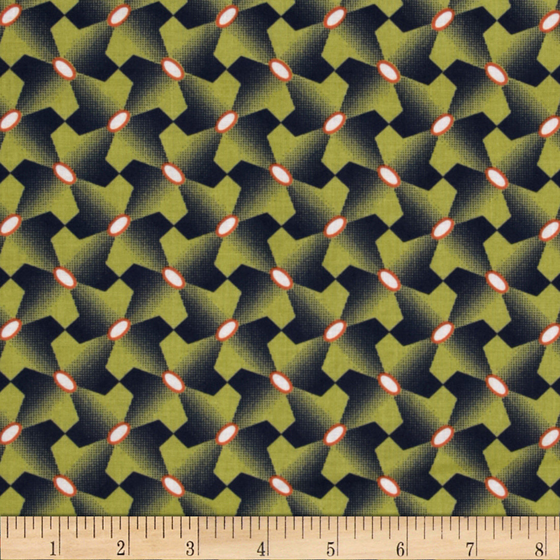 Joel Dewberry Botanique Houndstooth Asparagus Fabric
