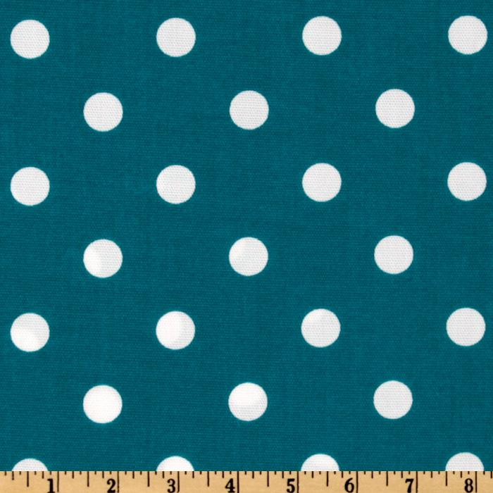 Premier Prints Indoor/Outdoor Polka Dot Blue Moon