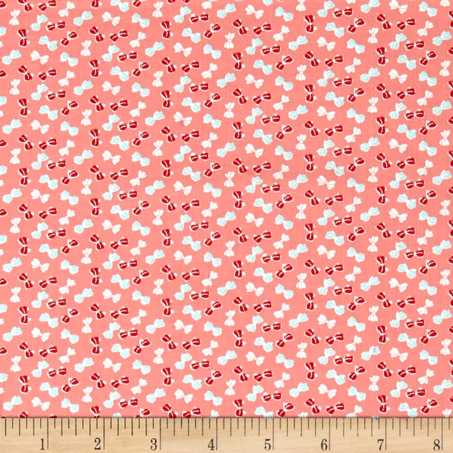 Moda Little Ruby Little Bows Coral