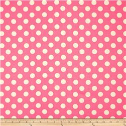 Riley Blake Home Décor Dots Hot Pink Fabric