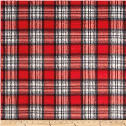 Fleece Plaid Red/White