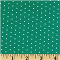 Stretch Bamboo Rayon Jersey Knit Dot Green