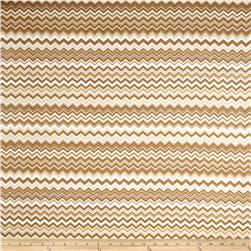 Chevron Flannel Brown/Mocha Fabric