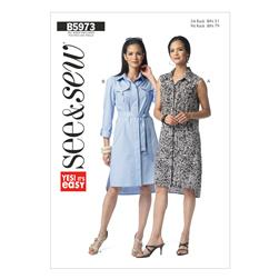 Butterick Misses' Dress Pattern B5973 Size 0A0