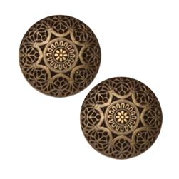 Fashion Button 3/4'' Safi Antique Brass