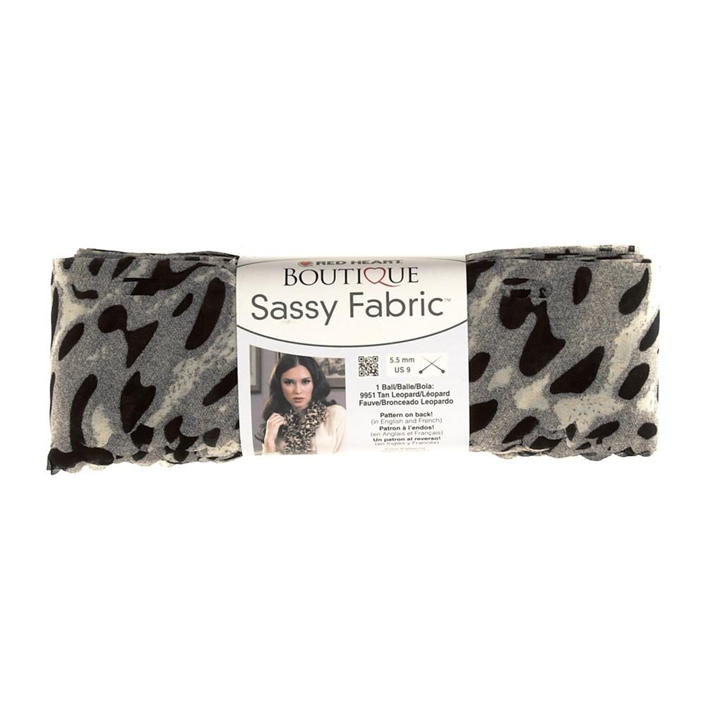 Red Heart Yarn Boutique Sassy Fabric Snow Leopard