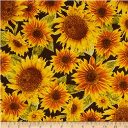 Harvest Botanical Sunflowers Brown