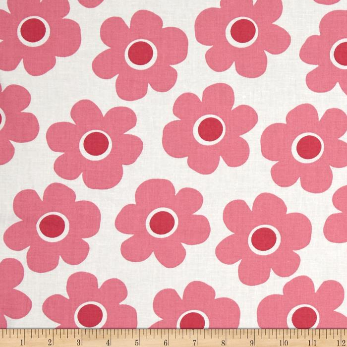 "Kaufman 108"" Wide Quilt Back Remix Flowers Pink"