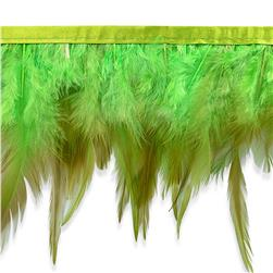 "5 1/2"" Jaylo Feather Trim Green"