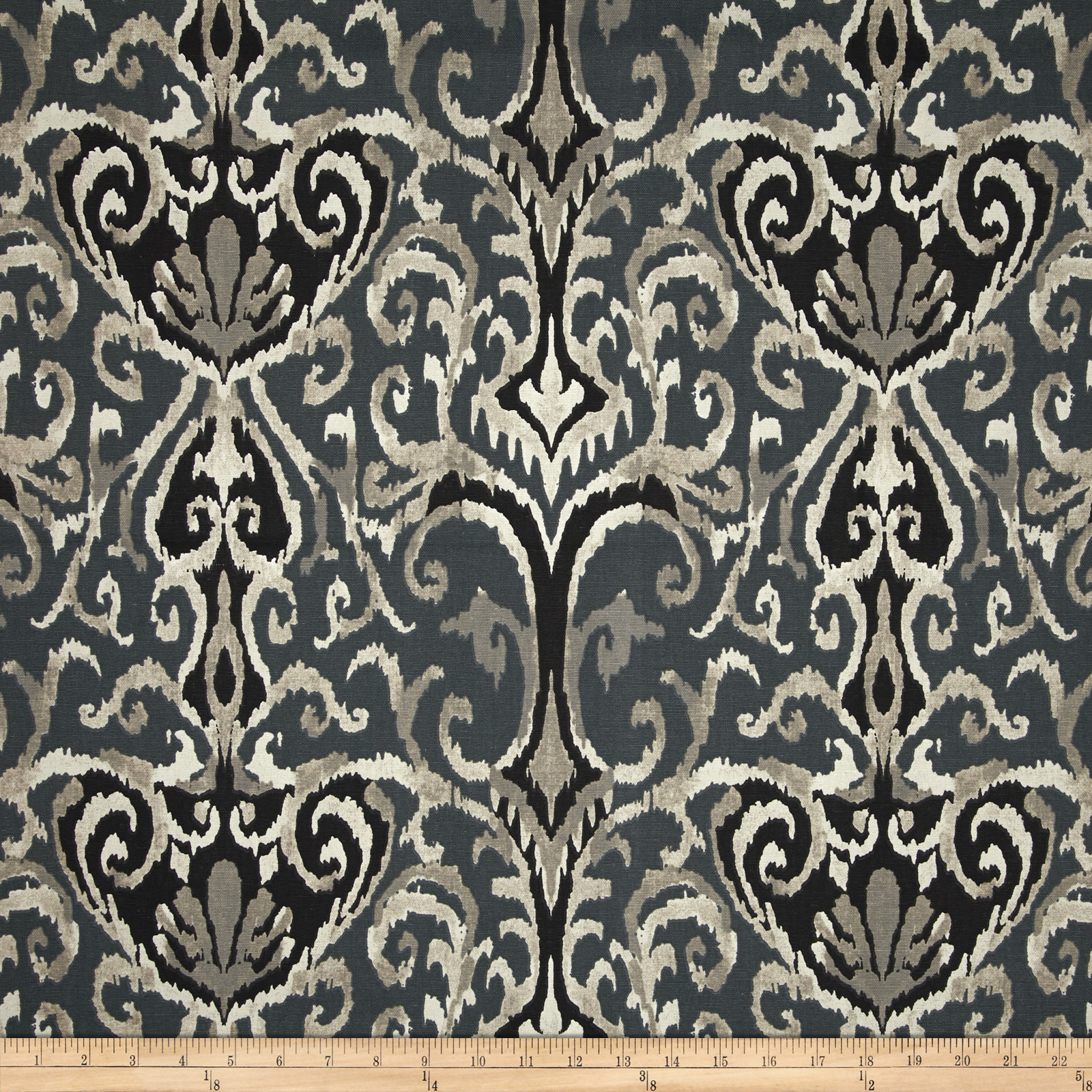 Magnolia Home Fashions Winchester Ikat Midnight Fabric by Magnolia in USA