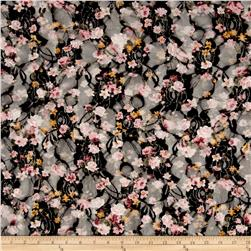 Printed Stretch Lace Floral Black/White/Green/Pink/Yellow