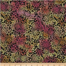 Timeless Treasures Indian Summer Allover Lace Black