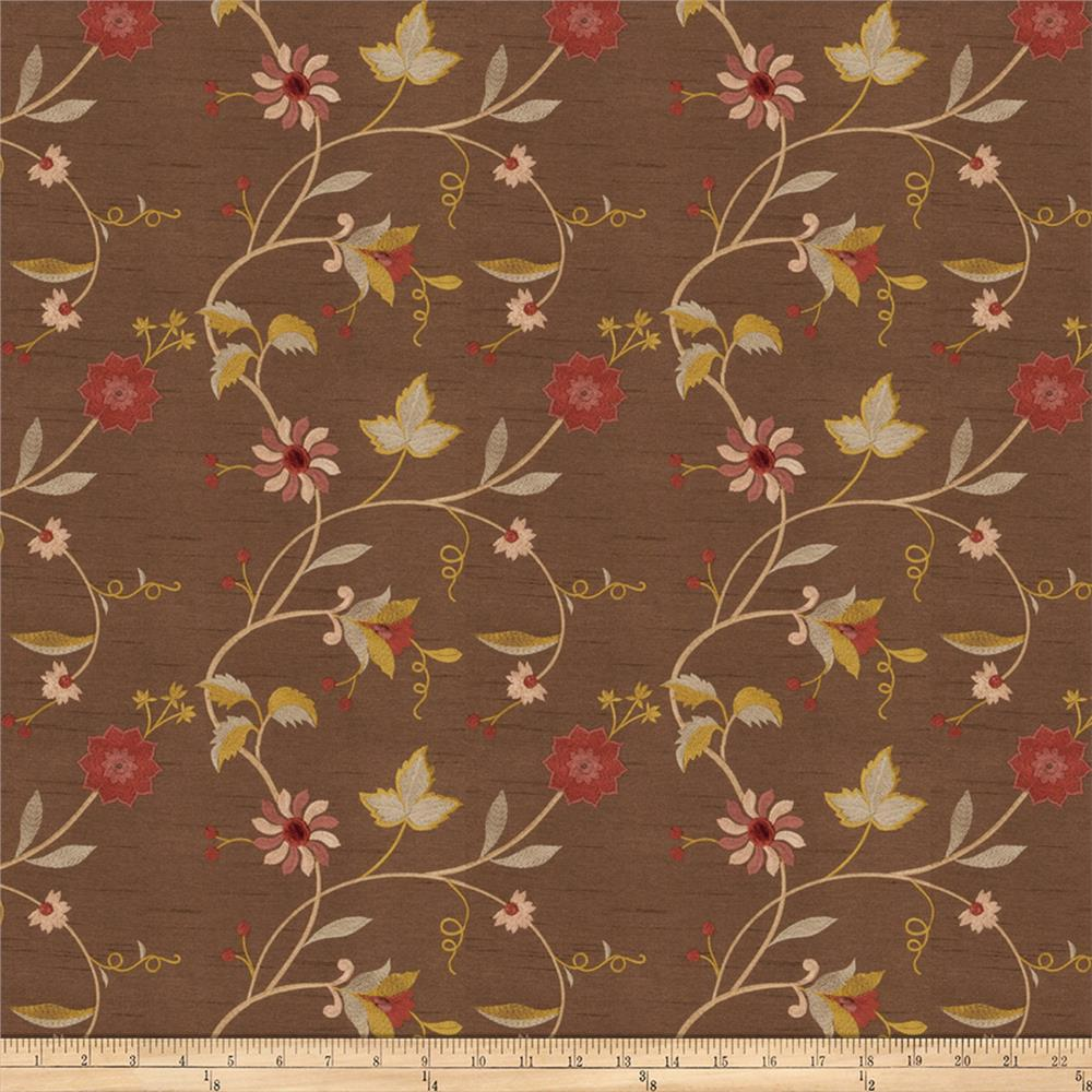 Trend 01322 Dupioni Embroidered Cocoa