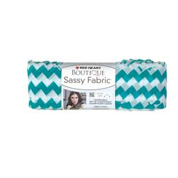 Red Heart Boutique Sassy Fabric Teal Chevron