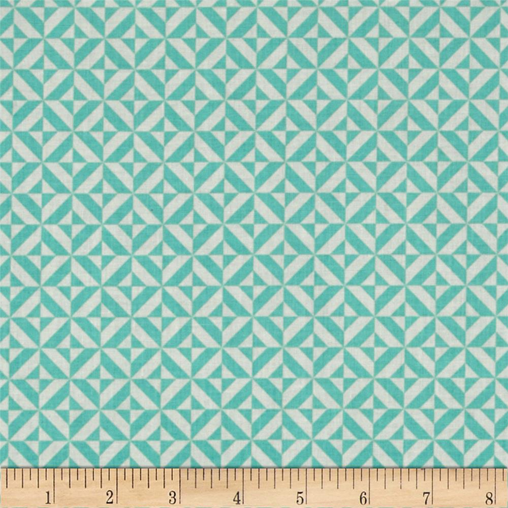 Riley Blake Fun & Games Geometric Aqua