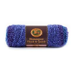 Lion Brand Homespun Thick & Quick Stripes Yarn 208 Violet Stripes