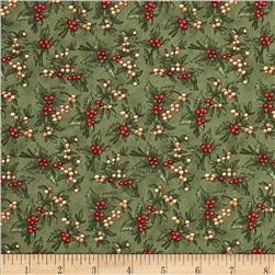Moda Under the Mistletoe Holly Berries Mistletoe