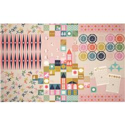 Cotton + Steel Playful Canvas Playroom Pink