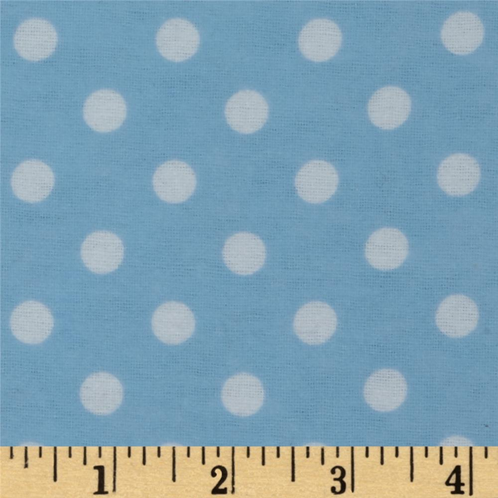 Dreamland Flannel Happy Dots Dreamy Blue