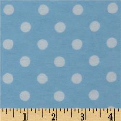 Dreamland Flannel Happy Dots Dreamy Blue Fabric
